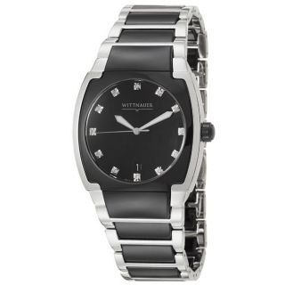 Wittnauer Mens Ceramic Stainless Steel and Black Ceramic Quartz