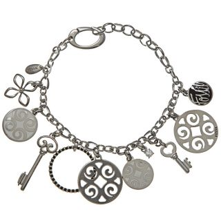 Fossil Jewelry Womens Stainless Steel Charm Bracelet Today $56.99