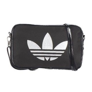 Adidas Damen Handtasche Glam Mini Air, black/metallic silver, 24 x 2 x